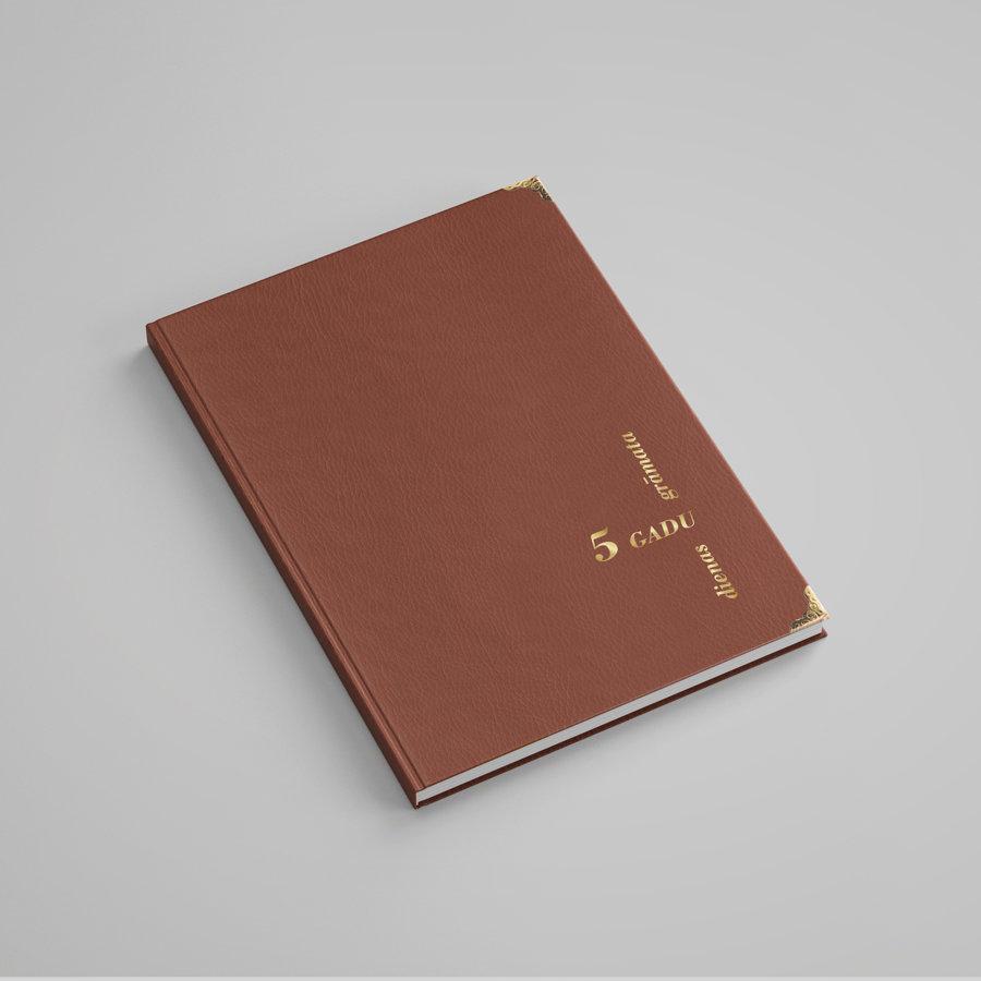 5 gadu dienasgrāmata (brūna)