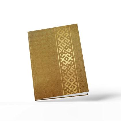 A5 līniju klade ar zelta ornamentu (zelta)
