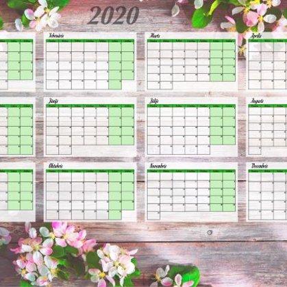Lielformāta sienas kalendārs